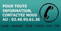 Informations au 02 40 95 61 26
