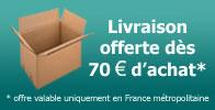 Transport gratuit à partir de 70€