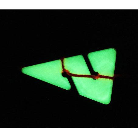 Flèche de direction phosphorescente