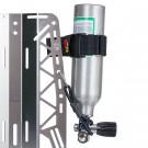 Système de fixation pour bouteille d'inflation (diam >9cm)