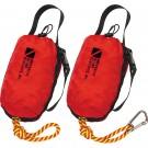 Corde de sécurité de 25 m et son sac avec mousqueton Inox